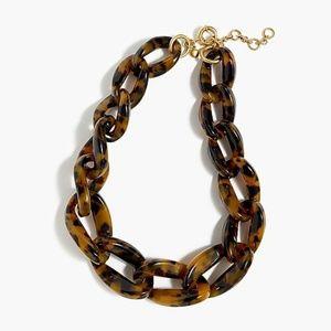 NWOT Jcrew Lucite Link Necklace Tortoise